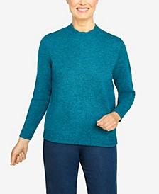Plus Size Classics Mock Neck Cashmelon Sweater