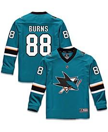 Youth Boys Brent Burns Teal San Jose Sharks Replica Player Jersey