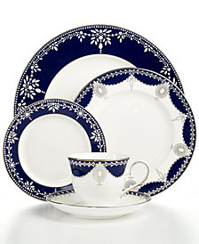 Marchesa by Lenox Dinnerware, Empire Indigo 5 Piece Place Setting