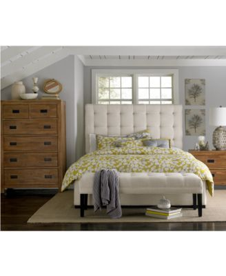 Abby Upholstered Queen Bed, Created for Macy's
