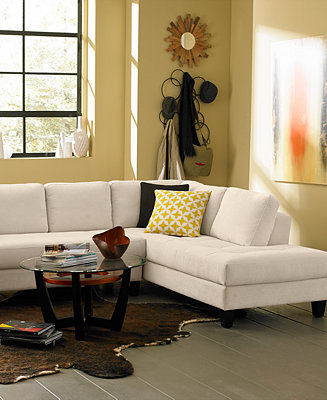 Rylee Fabric Sectional Sofa Living Room Furniture