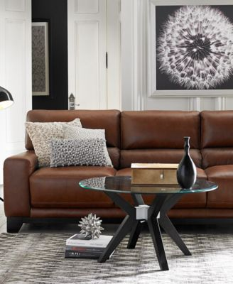luke ii leather sofa living room furniture collection - Macys Living Room Furniture