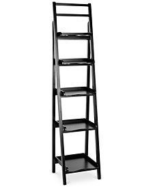 Lovell Leaning Etagere Bookcase, Quick Ship