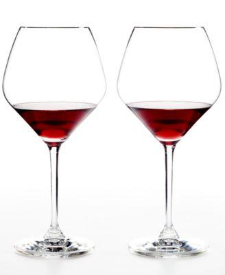 Set of 2 Heart to Heart Pinot Noir Glasses