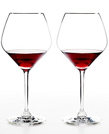 Set of 2 Heart to Heart Pinot Noir Glasses