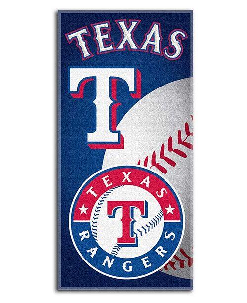Northwest Company Texas Rangers Emblem Beach Towel
