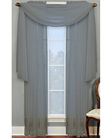 "Miller Curtains Sheer Angelica Volie 56"" x 216"" Scarf Valance"