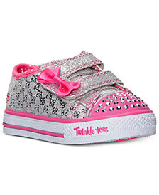 Skechers Toddler Girls' Twinkle Toes: Shuffles - Sweet Steps Light-Up Sneakers from Finish Line
