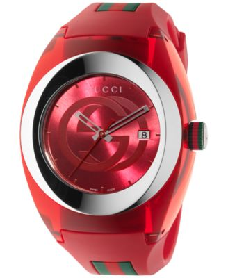 grfw red gucci watch from macys