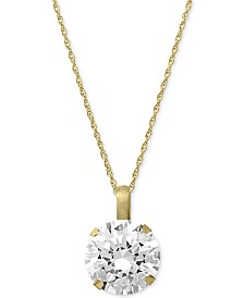 Swarovski Zirconia Round Pendant Necklace in 14k Gold (3-1/3 ct. t.w.)