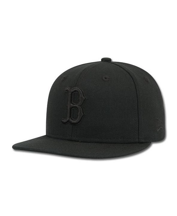 New Era Kids' Boston Red Sox Black on Black Fashion 59FIFTY Cap