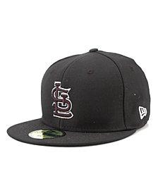 New Era Kids' St. Louis Cardinals MLB Black and White Fashion 59FIFTY Cap