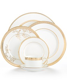 Vera Wang Wedgwood Dinnerware, Lace Gold Collection