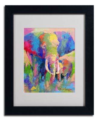 "'Elephant' Matted Framed Canvas Print by Richard Wallich, 16"" x 20"""