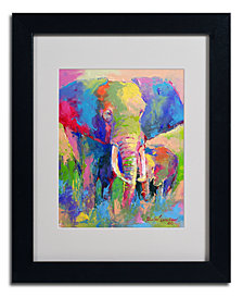 'Elephant' Matted Framed Canvas Print by Richard Wallich