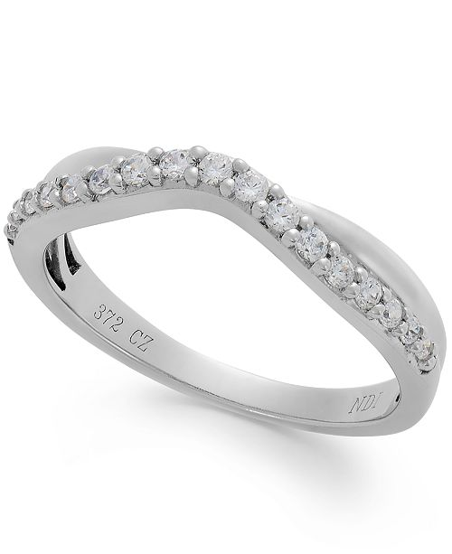 Macy's  Enbracables Diamond Band in 14k White Gold (1/4 ct. t.w.)