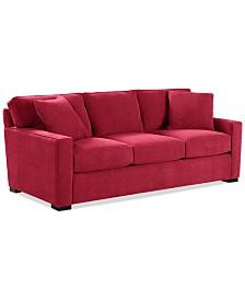 radley 86 fabric sofa custom colors created for macys - Red Sofa
