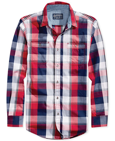 American Rag Men's American Plaid Shirt, Created for Macy's ...