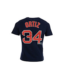 Majestic Kids' David Ortiz Boston Red Sox Official Player T-Shirt