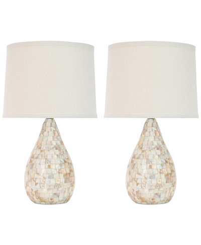 Safavieh set of 2 lauralie ivory capiz shell lamps lighting safavieh set of 2 lauralie ivory capiz shell lamps aloadofball Image collections