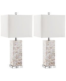 Safavieh Set of 2 Homer Shell Table Lamps