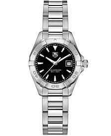 Women's Swiss Aquaracer Stainless Steel Bracelet Watch 27mm WAY1410.BA0920