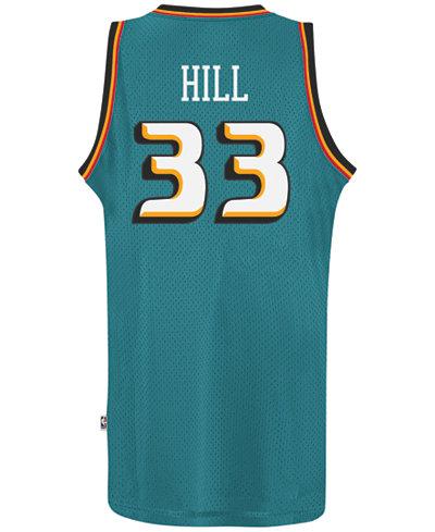 adidas Men's Grant Hill Detroit Pistons Retired Player Swingman Jersey