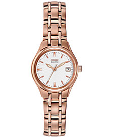 Citizen Women's Silhouette Eco-Drive Rose Gold-Tone Stainless Steel Bracelet Watch 25mm EW1263-52A - A Macy's Exclusive