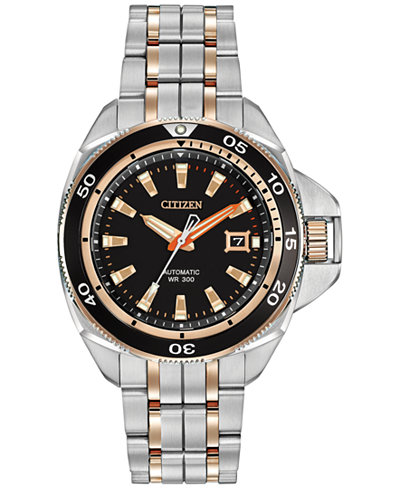 Citizen Men's Automatic Grand Touring Eco-Drive Two-Tone Stainless Steel Bracelet Watch 45mm NB1036-50E