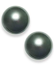 Tahitian Pearl (14mm) Stud Earrings in 14k White Gold