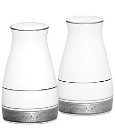 Noritake Dinnerware, Crestwood Platinum Salt and Pepper Shakers