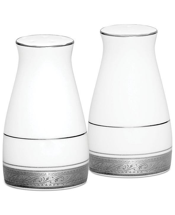 Noritake Dinnerware, Crestwood Platinum Salt and Pepper Shakers