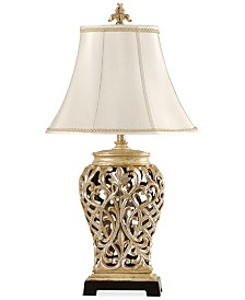 StyleCraft Open-Lace Scroll Table Lamp, Created for Macy's