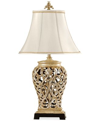 Stylecraft open lace scroll table lamp created for macys
