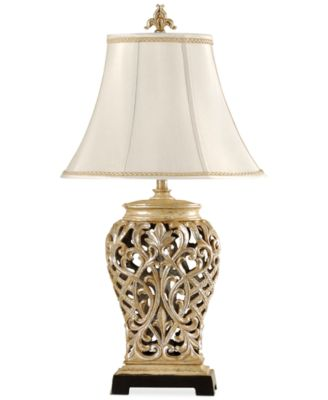 StyleCraft Open Lace Scroll Table Lamp, Created For Macyu0027s