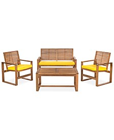 Blaise 4 Piece Outdoor Wood Set