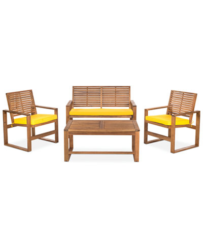 pictures of outdoor wood furniture