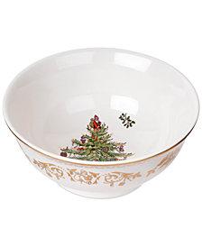 "Spode Christmas Tree Gold Small Bowl 6"""