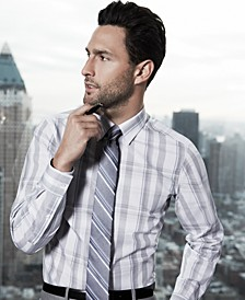 American Icons Striped Tie & Glen-Plaid Dress Shirt Look