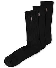 Polo Ralph Lauren Men's Socks, Casual Pony Player Crew 3 Pack