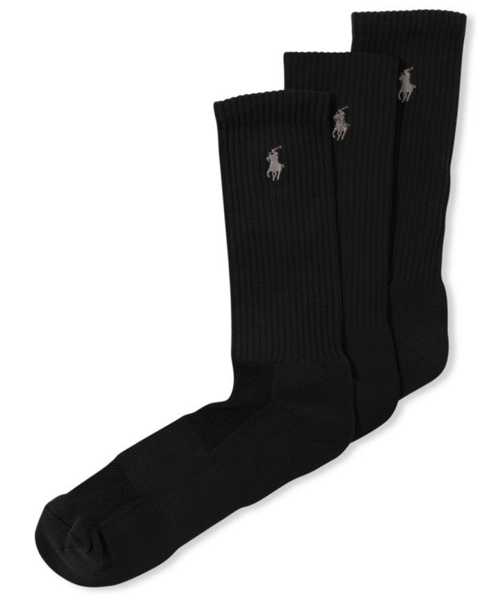 Polo Ralph Lauren Men's Socks, Casual Pony Player Crew 3 Pack & Reviews - Underwear & Socks - Men - Macy's