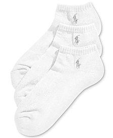 Ralph Lauren Men's Socks, Athletic No-Show 3 Pack
