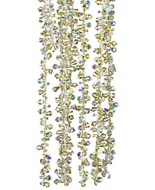 Kurt Adler Gold and Clear Bead Garland