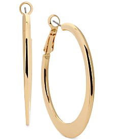 Kenneth Cole New York Gold Knife Edge Hoop Earring