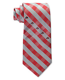Eagles Wings Ohio State Buckeyes Checked Tie