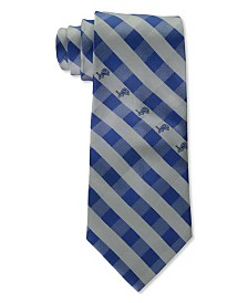 Eagles Wings Detroit Lions Checked Tie