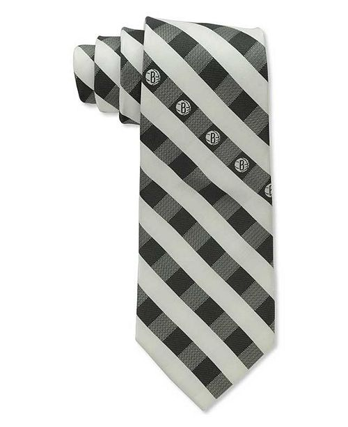 Eagles Wings Brooklyn Nets Checked Tie