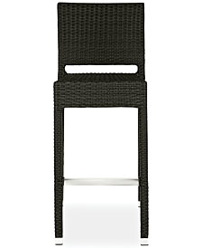 Gitano Indoor/Outdoor Wicker Bar Stool, Quick Ship
