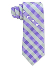 Eagles Wings Kansas State Wildcats Checked Tie