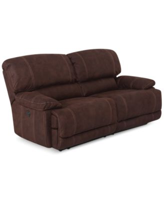Beautiful CLOSEOUT! Jedd 2 Piece Fabric Sectional Sofa With 2 Power Recliners,  Created For